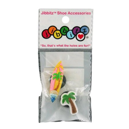 13b72842ad4e1 Jibbitz - Jibbitz - Pink Surf Board   Palm Tree Crocs Shoe Charms ...