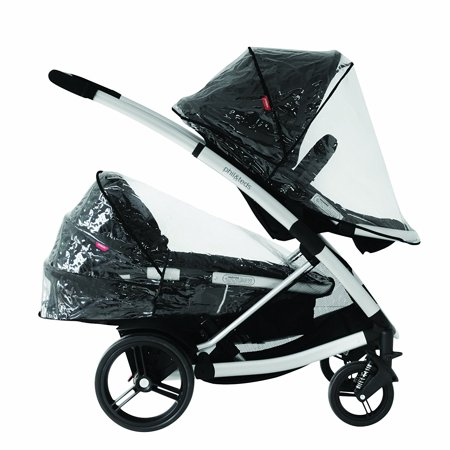 Storm Cover for Promenade, Smart Lux and Mountain Buggy Cosmopolitan Strollers, Protects from wind, rain and bugs By phil&teds Buggy Single Storm Cover