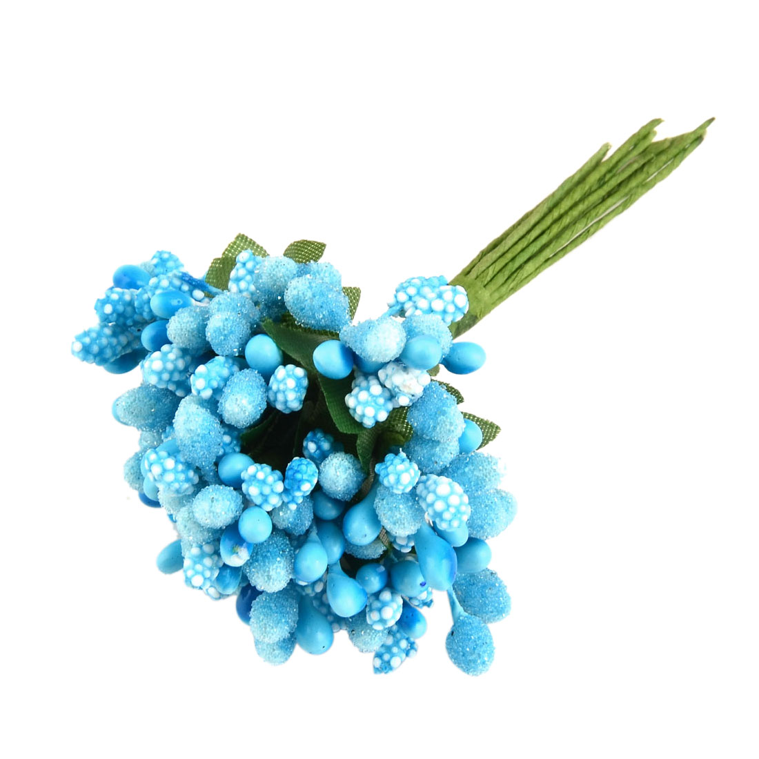 Unique Bargains Plastic DIY Craft Candy Box Note Book Gift Decoration Artificial Berry Sky Blue