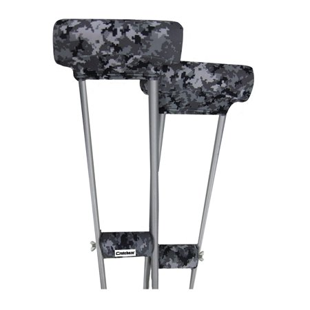 Underarm Crutch Cushion - Crutcheze Digital Camo Crutch Pad Set - Underarm & Hand Grip Covers with Comfortable Padding - Crutch Accessories Made In USA (2 Armpit, 2 Hand Cushion) - Crutch Pillows