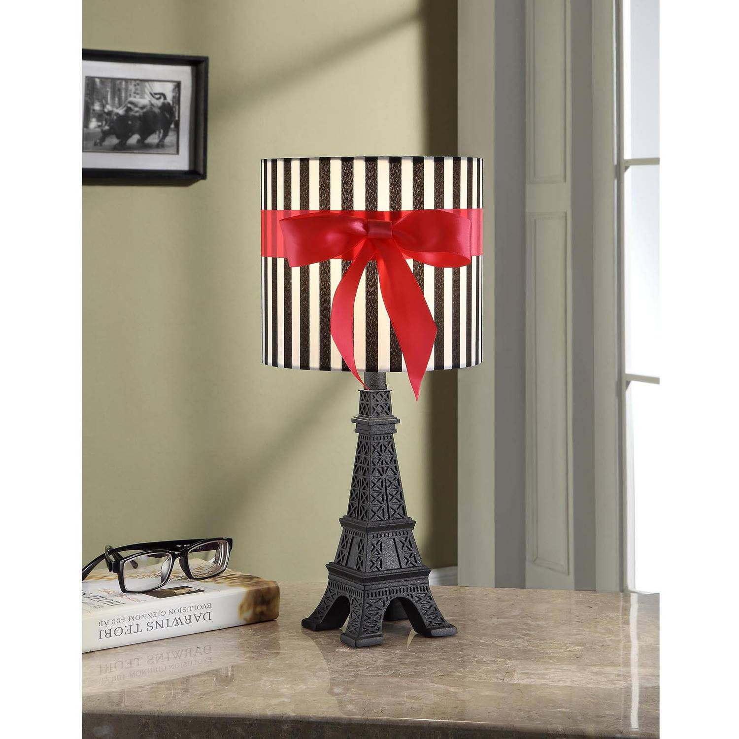 your zone paris lamp with CFL bulb, black