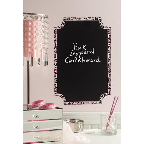"""Wallies Pink Leopard Chalkboard, 11"""" x 17"""""""