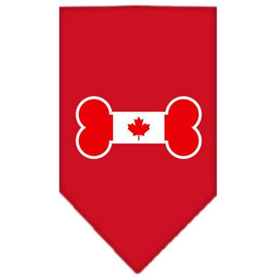 Bone Flag Canadian  Screen Print Bandana Red Small