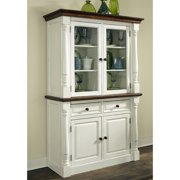 Home Styles Monarch China Cabinet - White & Oak