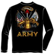 United States Army Antique Armor Long Sleeve T-Shirt by , Black