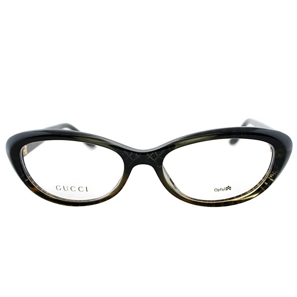 929bdc387e Gucci - Womens Eyeglasses 3566 W8H 16 Plastic Oval Black Gold Frames -  Walmart.com