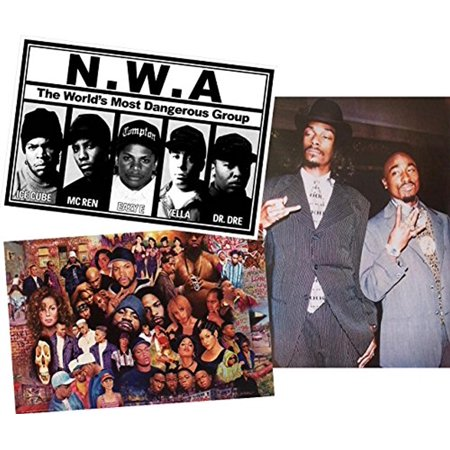 Set Legends Of Rap And Hip Hop 80Sand 90S  Snoop   Tupac   Nwa 36X24 Art Print Poster