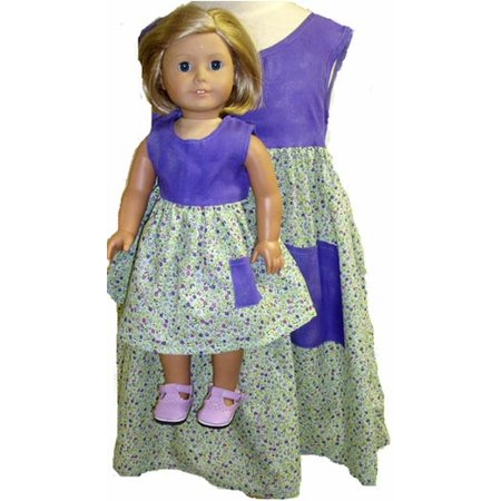 Size 3 Matching Girl and Doll Calico Print -