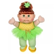 Cabbage Patch Kids Sittin' Pretty Soft & Cuddly! Brown Hair Green Eyes Fruit Pineapple Outfit