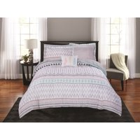 Mainstays Aztec Stripe 8-Piece Bed in a Bag Comforter Bedding Set with BONUS Sheet Set and Throw Pillow