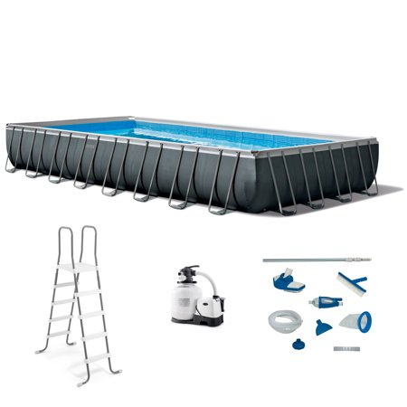 Intex 32ft x 16ft x 52in Ultra XTR Rectangular Swimming Pool and Maintenance Kit