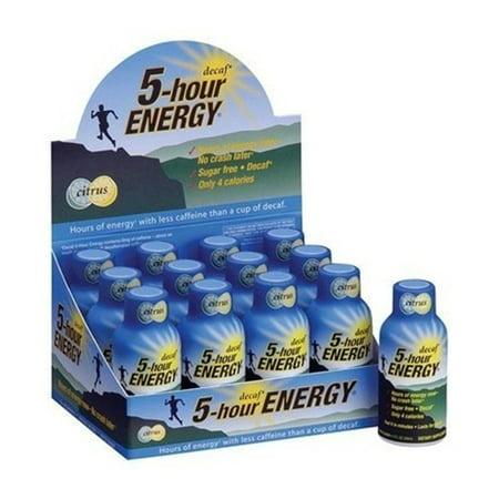5 HOUR ENERGY Tir Decaf- 24 Paquet de 2 bouteilles Ounce