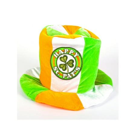 Irish Top Hat (Saint Patricks Day Green Happy St. Pats Costume Irish Flag Top)