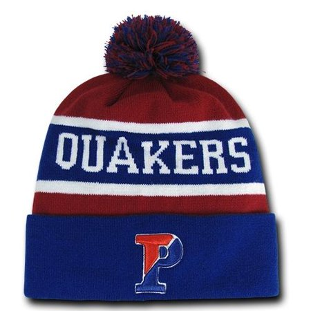 University of Pennsylvania Penn Quakers NCAA Winter Pom Cuff Knit Beanie Cap Hat](Quaker Hats)