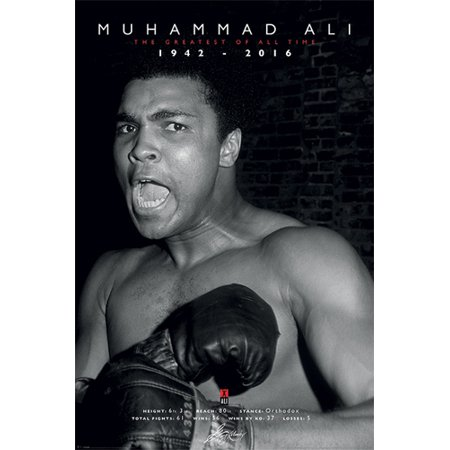 Muhammad Ali The Greatest of All Time Commemorative Poster Print (24 x 36)