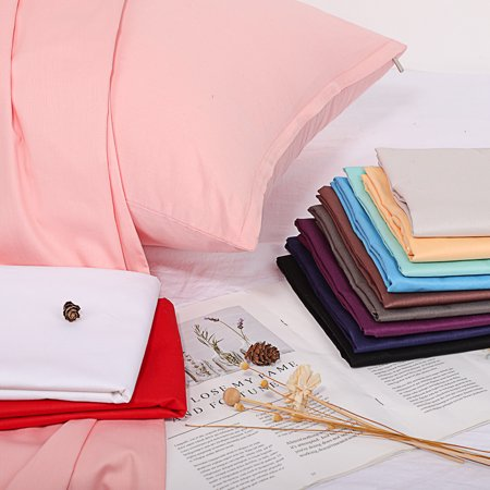 Unique Bargains Egyptian Cotton Zippered Body Pillow Case Cover Red 20