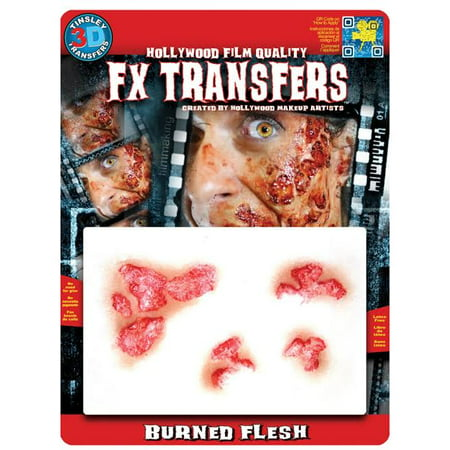 Tinsley Halloween Costume Makeup Burned Flesh 3D FX Transfers - Best Makeup To Use For Halloween