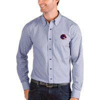 Boise State Broncos Antigua Structure Woven Button-Up Long Sleeve Shirt - Royal