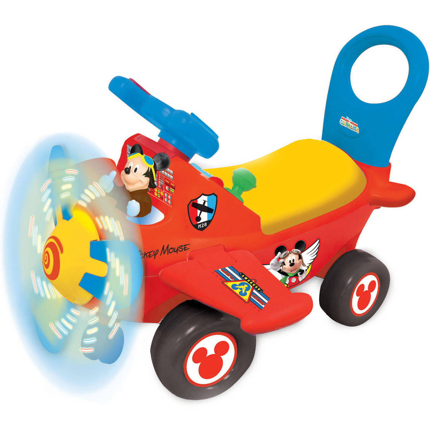 Kiddieland Disney Mickey Mouse Clubhouse Plane Light and Sound Activity Ride-On by Kiddieland
