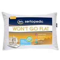 Sertapedic Won't Go Flat Pillows, Set of 2, Standard Size