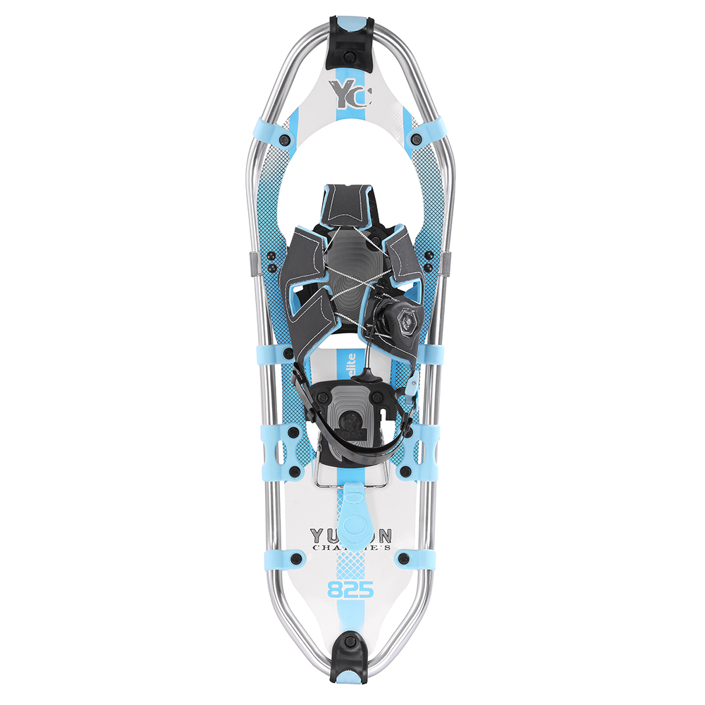 YUKON CHARLIE'S WOMEN'S ELITE SPIN SNOWSHOE 8X25 WHITE BLUE by Yukon Charlies