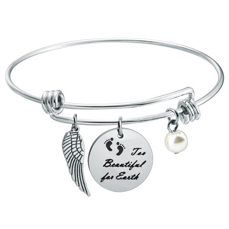Baby Memorial Jewelry Miscarriage Bracelet Too Beautiful For Earth Bracelet Sympathy Gift For Infant Loss