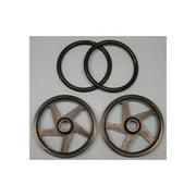 "2502 O-Ring Wheels 2"" Black (2) Multi-Colored"