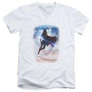 Supergirl Endless Sky Mens V-Neck Shirt