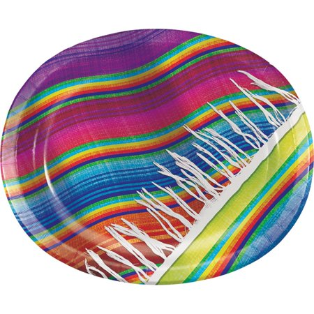Pack of 96 Vibrantly Colored Oval Platters Disposable Plates 12.1
