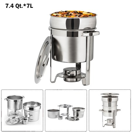 UBesGoo 7.4 Qt/ 7L Stainless Steel Soup Warmer Chafing Dish Dishes, Complete Full Size Chafer Chafers Buffet Set, Food Warmers for Parties, Catering (Party Warmers)