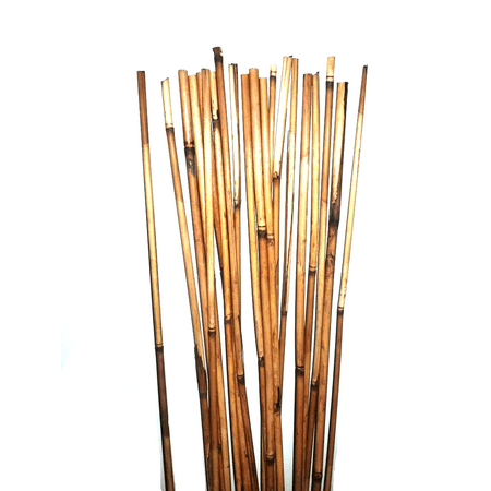 Natural Bamboo Stakes Over 5 Feet Tall Pack Of 20 Natural Brown