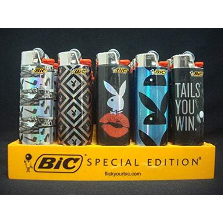 Bic Full Size Lighters Special Playboy Series - 5 Pack