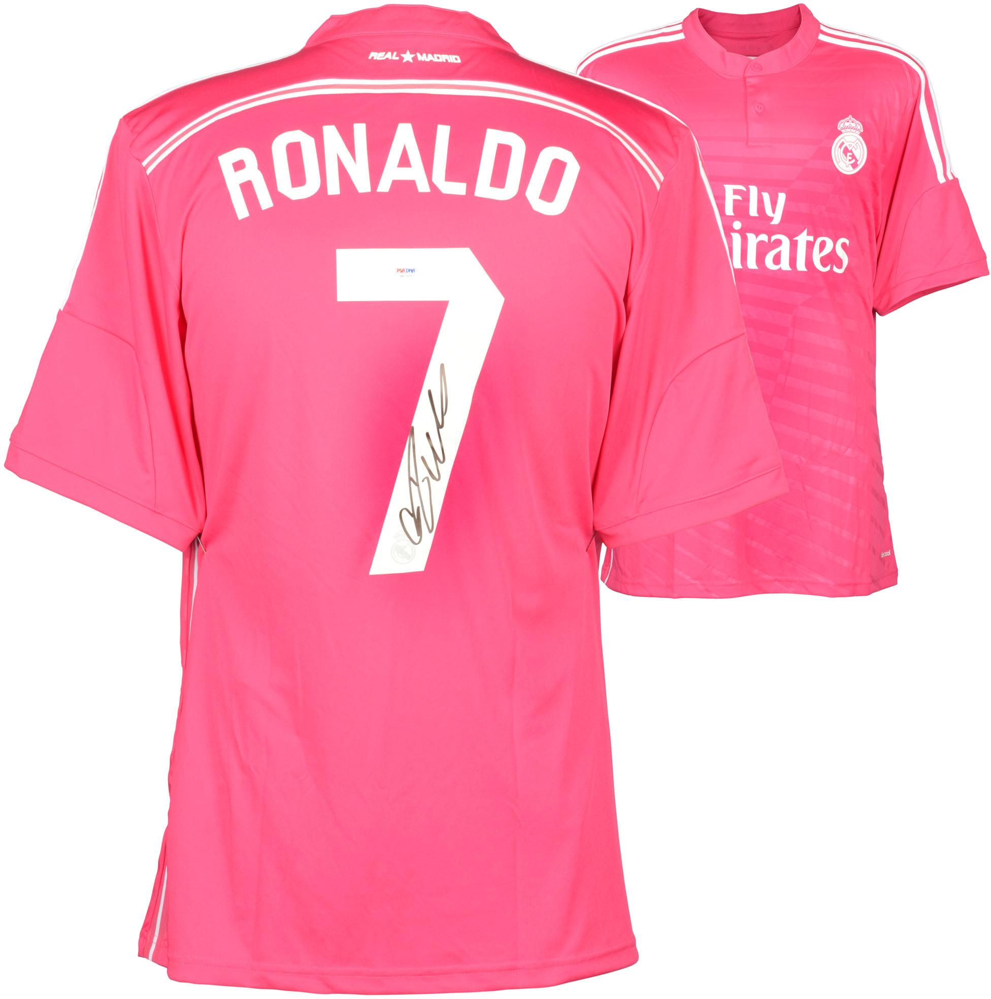 Crisitano Ronaldo Real Madrid Autographed Pink Jersey - Fanatics Authentic Certified