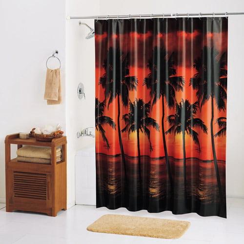 Sunset Palm PEVA Shower Curtain