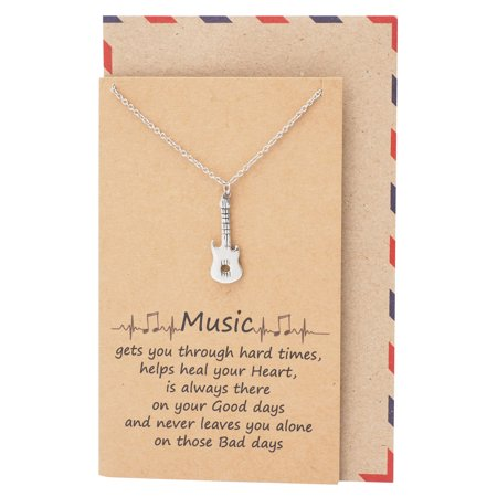 Music Guitar Necklace, Personalized Gifts for Music Lovers - Guitar Necklaces