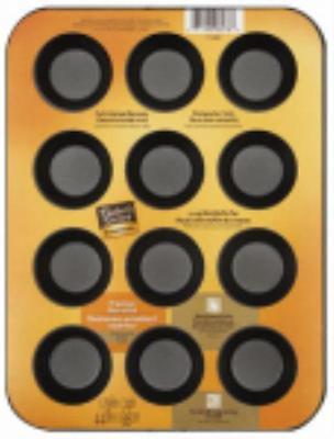 "Baker's Secret 12 Cup 10-1 2"" x 8"" x 1-1 4"" Miniature Muffin Pan by"