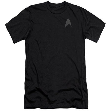 Star Trek Darkness Captain Kirk Command Logo Uniform Costume Adult Slim T-Shirt (Star Trek Uniform Buy)