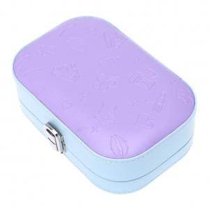 Fancyleo Small Jewelry Box Portable Travel Case Organizer for Rings Necklaces, Gift for Girls & Women, With