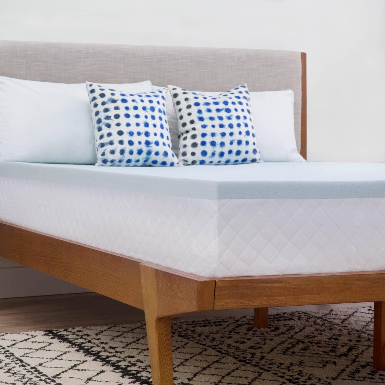 """linenspa 2"""" gel memory foam mattress topper"""