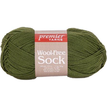 Wool Free Sock Yarn Green