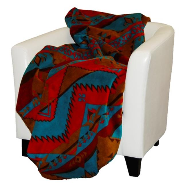 Denali Home Collection 16144450 Native Trail With Sable Double Sided Microplush Throw