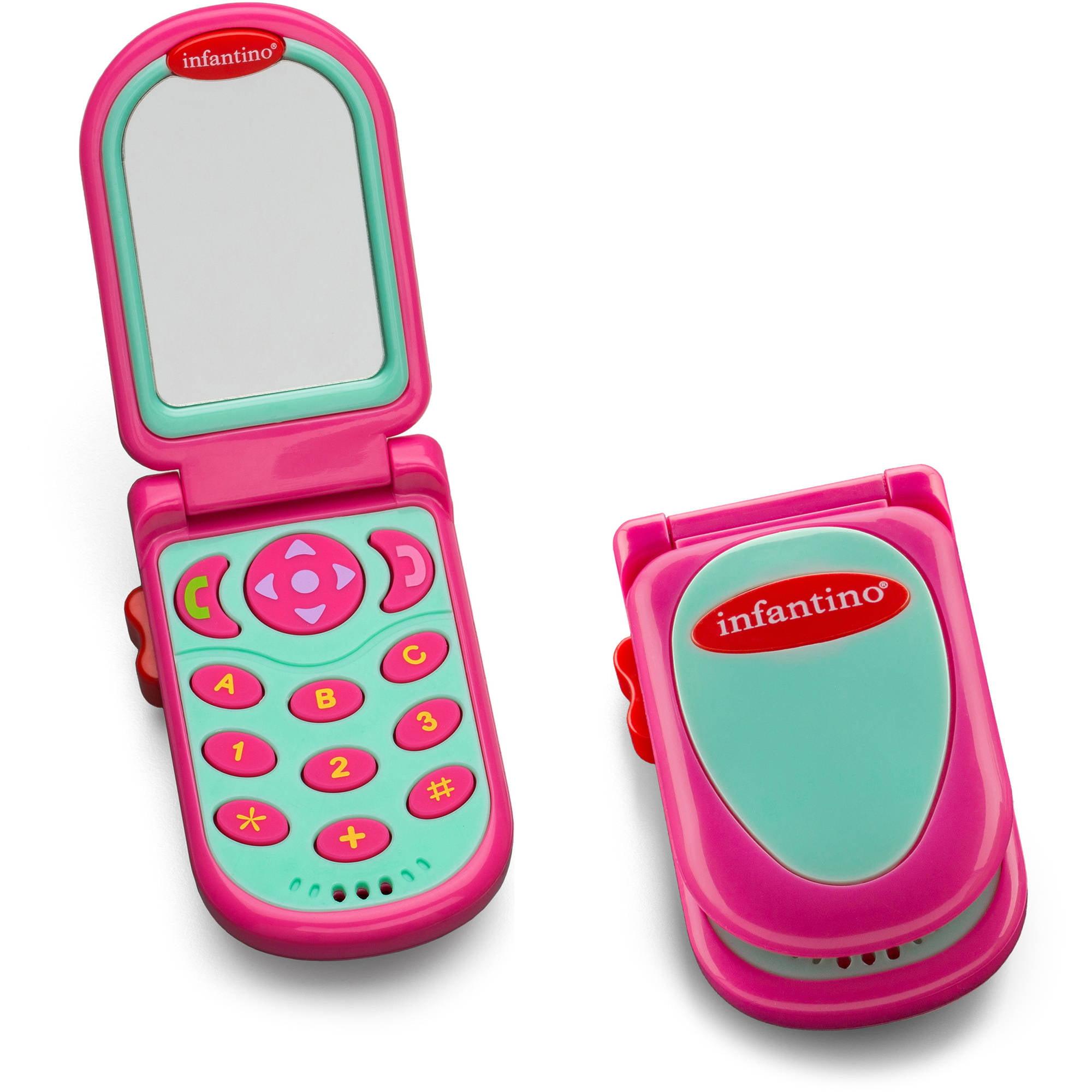Infantino Flip & Peek Fun Phone, Pink