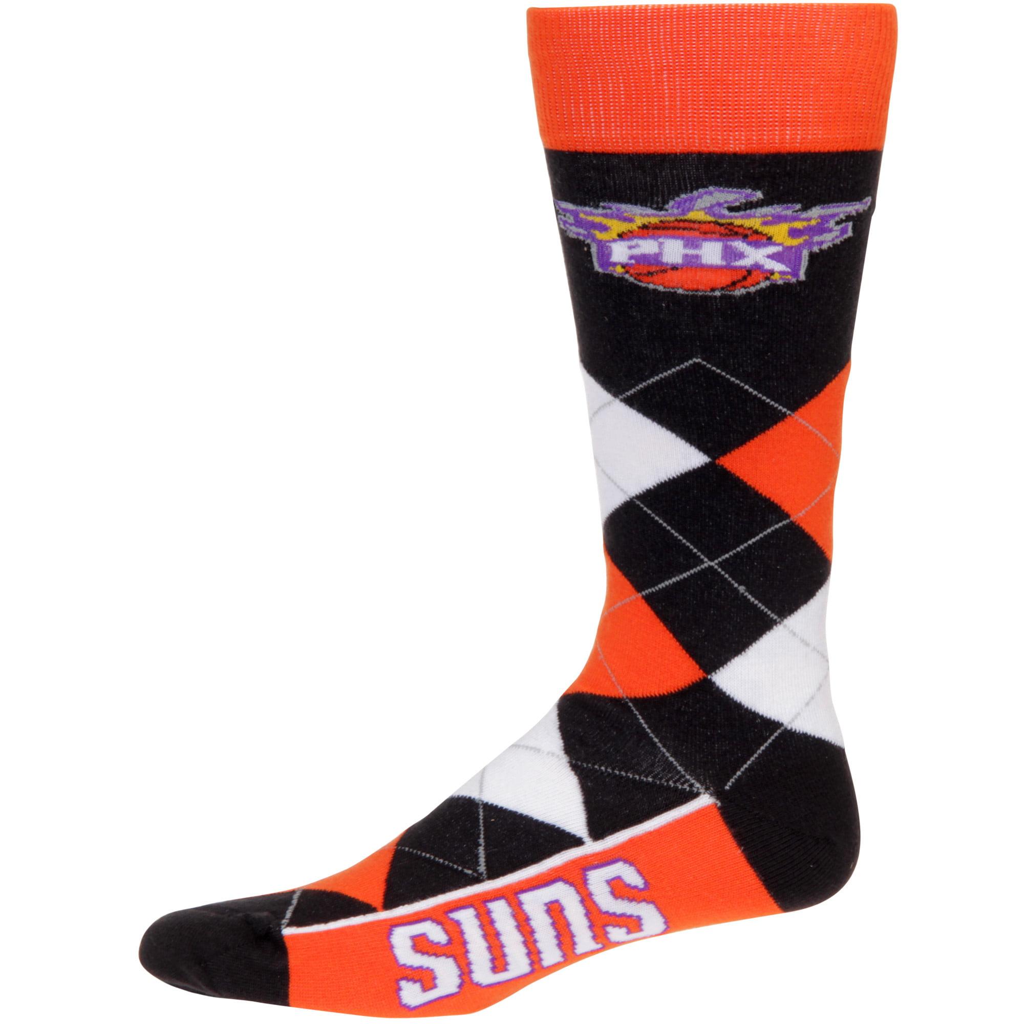 Phoenix Suns For Bare Feet Argyle Crew Socks - No Size