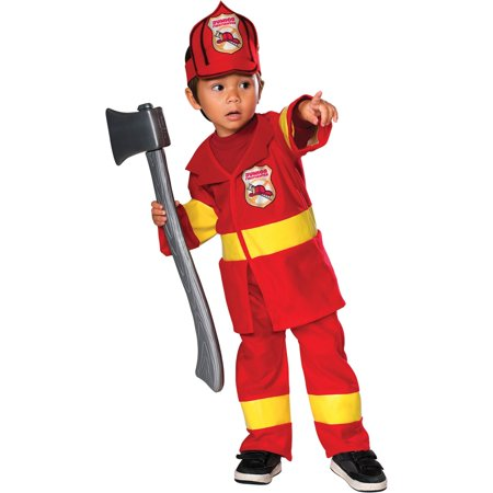Toddler Jr. Firefighter Costume - Bamm Bamm Toddler Costume