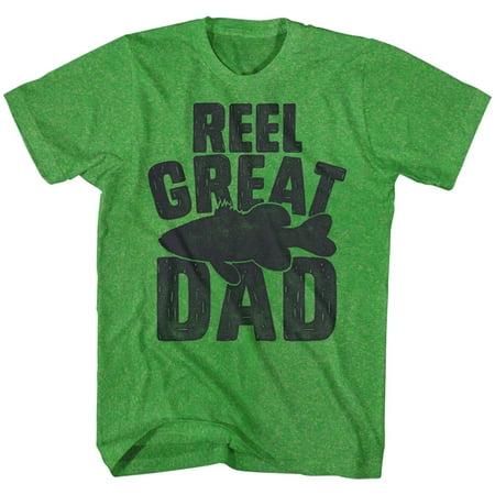 Reel Great Dad Fisherman Fish Funny Comical Joke Adult T-Shirt Tee - image 1 de 1