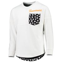 Girls Youth White Tennessee Volunteers Fan Oversized Long Sleeve T-Shirt