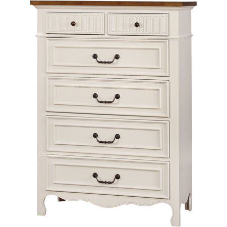 Furniture of America Dolly Cottage Inspired Chest, White & Oak