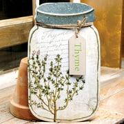 Blossom Bucket 'Thyme' Jar Sign Wall D cor