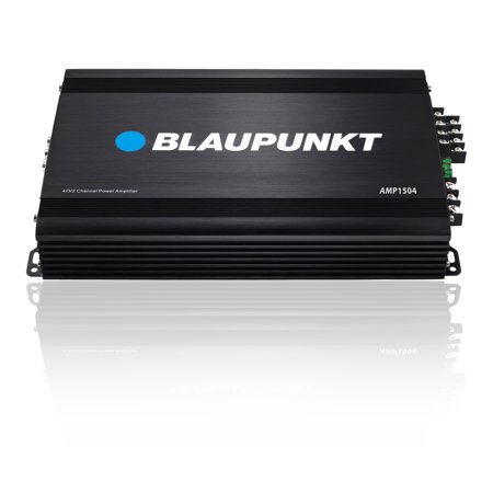 4 Channel Headphones Amplifier System - Blaupunkt AMP1504 Car Full-Range Amplifier 1500W 4-Channel Black Color