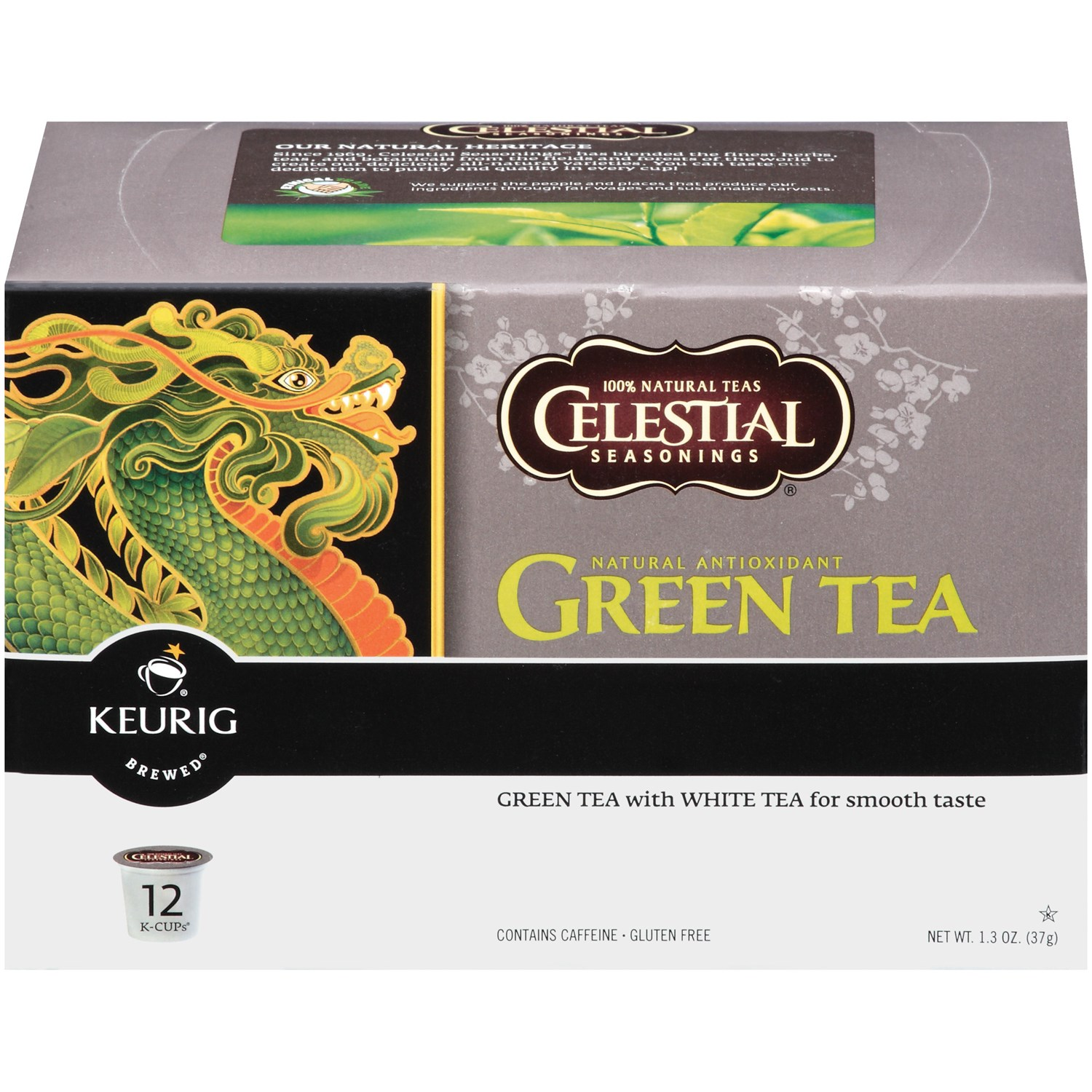 Celestial Seasonings K-Cup Packs - Green Tea , 12 CT (Pack of 6)